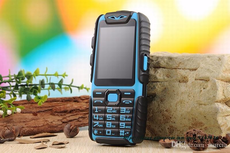 """Guophone A6 Mobile Phone 9800mAh superbattery Power Bank Phone Daily Tri-proof 2G Dual Sim 2.4"""" With Russian Keyboard bluetooth cell Murcia"""