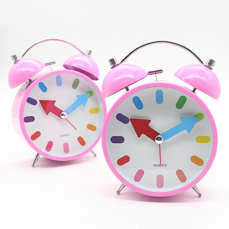 2018 Metal Mute Alarm Desk Clock Creative Bedside Bell Watch Table Silent Pink For Kids 4 5 From Dracaenor 40 39 Dhgate Com