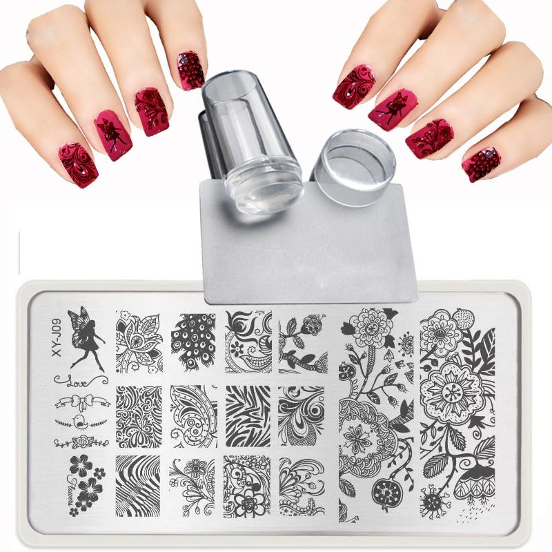Xy J 2017 Lace Flowers Patterns For Nail Art Templates Steel Plate Transparent St& + Nail St&ing Plates Sets Kits + Scraper Stencils For Nail Art Design ...  sc 1 st  DHgate.com & Xy J 2017 Lace Flowers Patterns For Nail Art Templates Steel Plate ...
