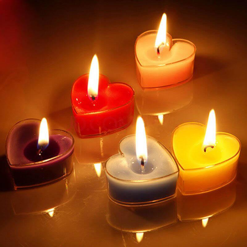 Romantic Heart Shaped Decorative Candle Tealight Jelly Candles For Creative Marriage Proposals Wedding Party Home Decor Scented Wax
