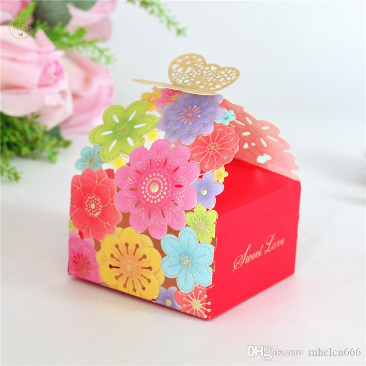 2018 2018 Laser Cut Butterfly Floral Favor Bags Paper Chocolate