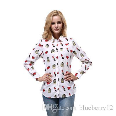 2019 New Trends Spring Fashion Women Blouses Shirts Women Lip