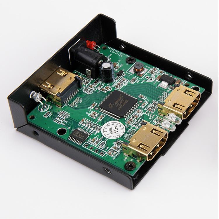 HDMI الفاصل الكامل HD 1080P HDMI الفاصل الفيديو HDMI التبديل الجلاد 1X2 سبليت 1 في 2 خارج مكبر للصوت العرض المزدوج لأجهزة الكمبيوتر HDTV