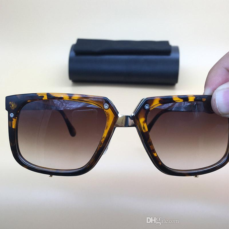 Großhandel Sonnenbrille 007 Square Legends Brillen Bernstein Gold ...