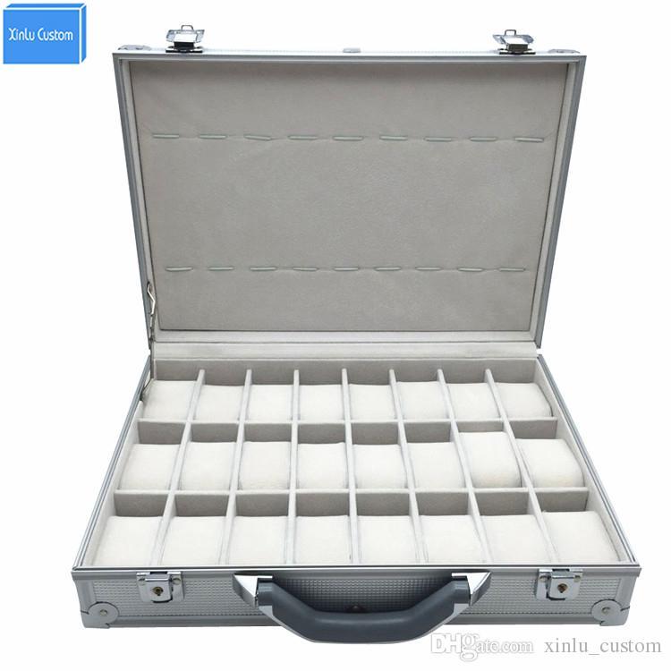 Merveilleux Luxury Aluminum Sport Protect Watch Suitcase Box Storage Watch Display Key  Lock Case, Aluminum Watch Storage Security Box, 24 Unit Spaces Large Watch  Case ...