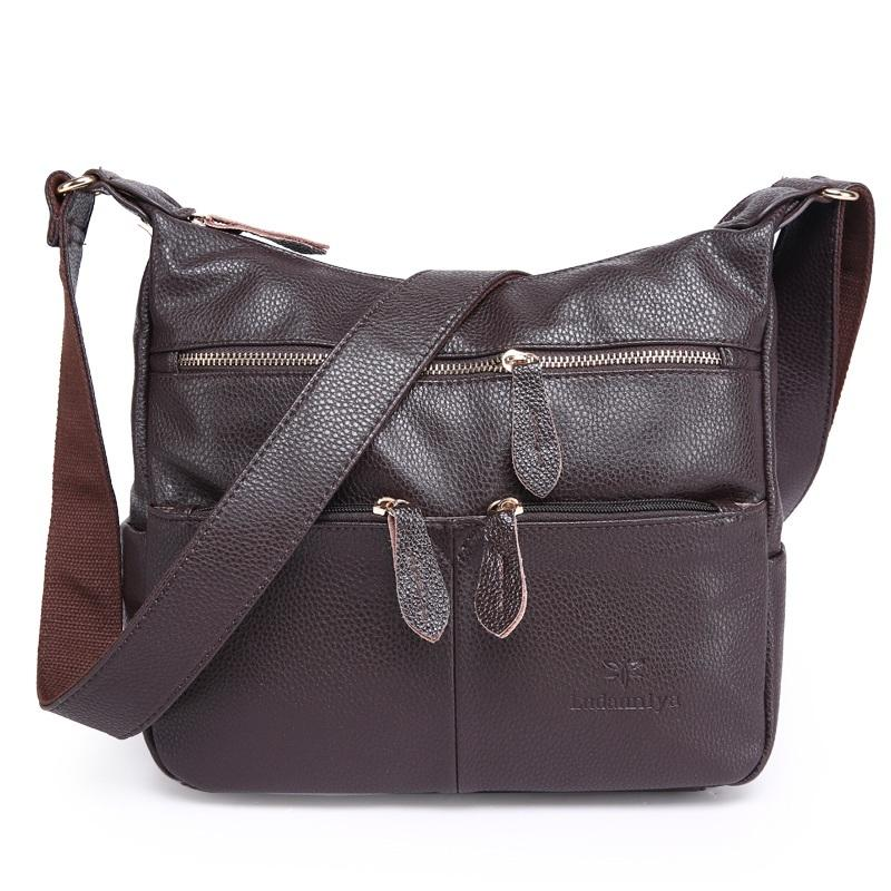 63f8cddef39d 2018 Fashion Women Messenger Bags COMPOSITE GENUINE LEATHER Women S Handbag  Women Bag Vintage Ladies Tote Crossbody Shoulder Bag Y18102403 Leather Bags  For ...
