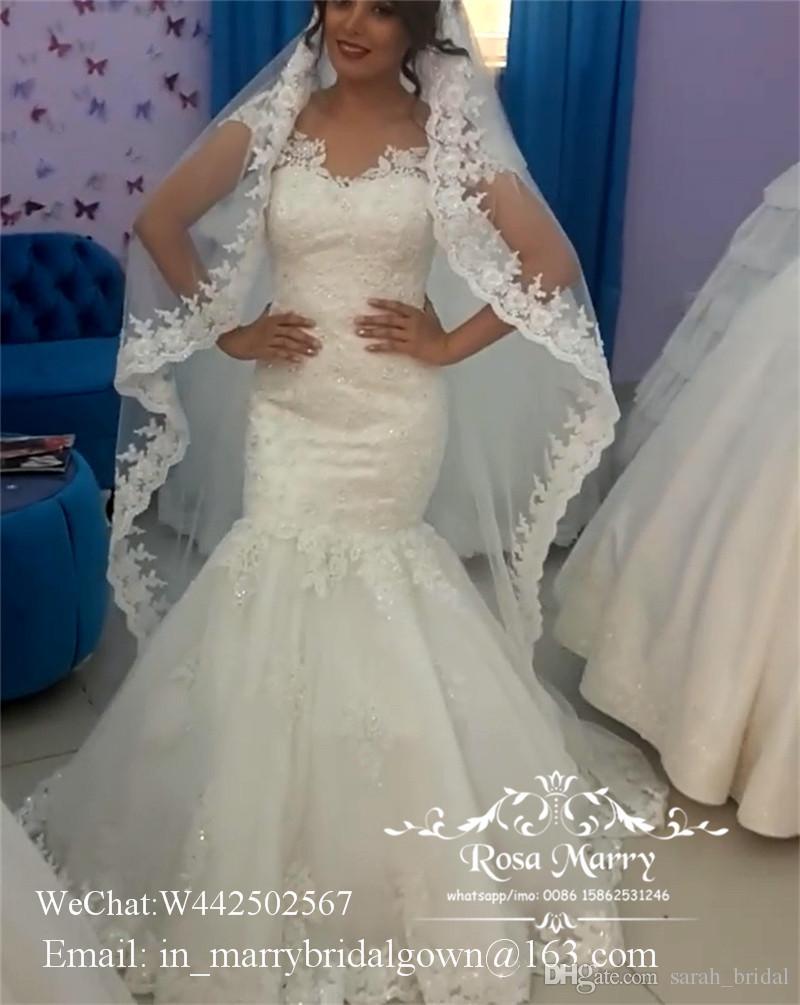 Sexy Plus Size Vintage Lace Mermaid Wedding Dresses 2020 Off Shoulder Arabic African Beach Country Vestido de Novia Long Cheap Bridal Gowns