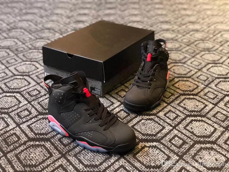 24343cf1e1305a Newest Mens Basketball Shoes 6 Black Infrared 23-Black High Quality Mens  Sports Shoes 384664-023 Designer Sneakers Size 7-12 6 Black Infrared  23-Black Mens ...