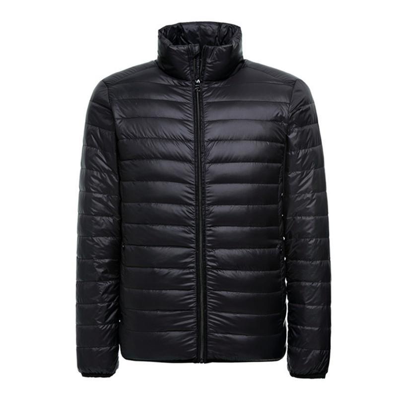 lowest price ee531 7b354 2018 neue leichte Daunenjacke für Männer dünne ultra leichte winddichte  weiße Ente Puffer Mantel männliche Outwear Packable Jacken Mäntel