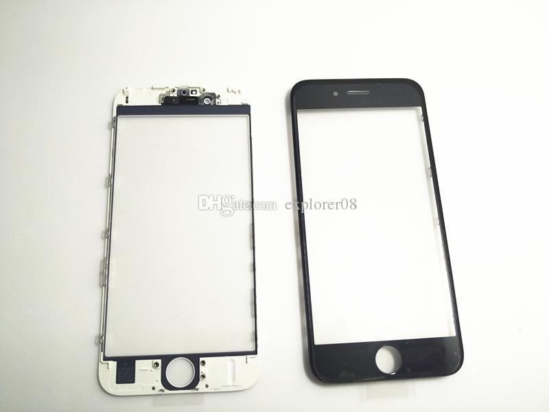 Avant écran tactile Panneau objectif en verre extérieur avec Cold Press Moyen Cadre avec OCA installé pour le plus de l'iPhone 6 6G