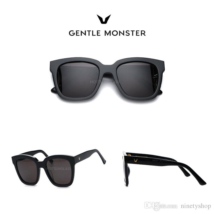 0fc546bc82 2019 Hot GENTELE MONSTER Fashion Sunglasses Men S   Women S Korean Style Fashion  Sunglasses Big Frame Round Face Sunglasses Dreamer Hoff 01 From Ninetyshop