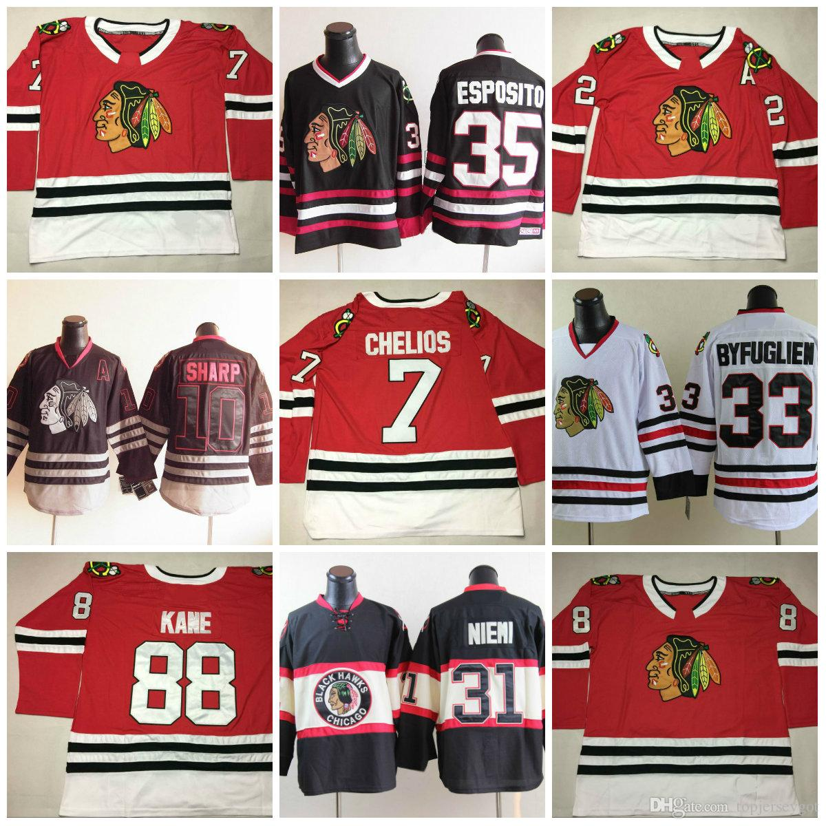 2017 Stitched Ice Hockey Jerseys Men s Chicago Blackhawks 88 Patrick ... e0062690d