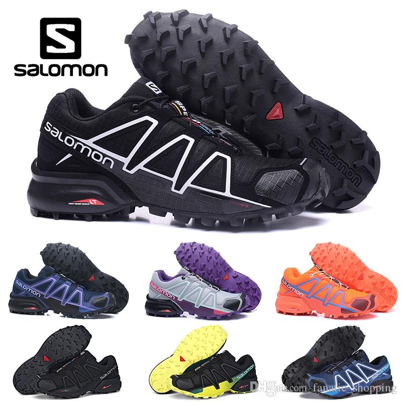 d11f27fed58f Salomon Speedcross 4 IV CS Trail Running Shoes Mens Women Purple Pink Speed  Cross Outdoor Hiking Athletic Sports Sneakers 36 46 Canada 2019 From ...