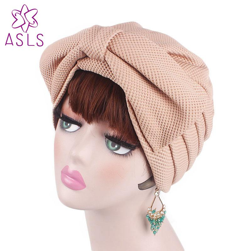 New Fashion Women Muslim India Luxury Large Bow Turban Hat Bonnet Chemo  Hijab Beanie Cap Headwear Bandanas Hair Accessories Hair Accessories For  Prom ... 463e6e2ae48