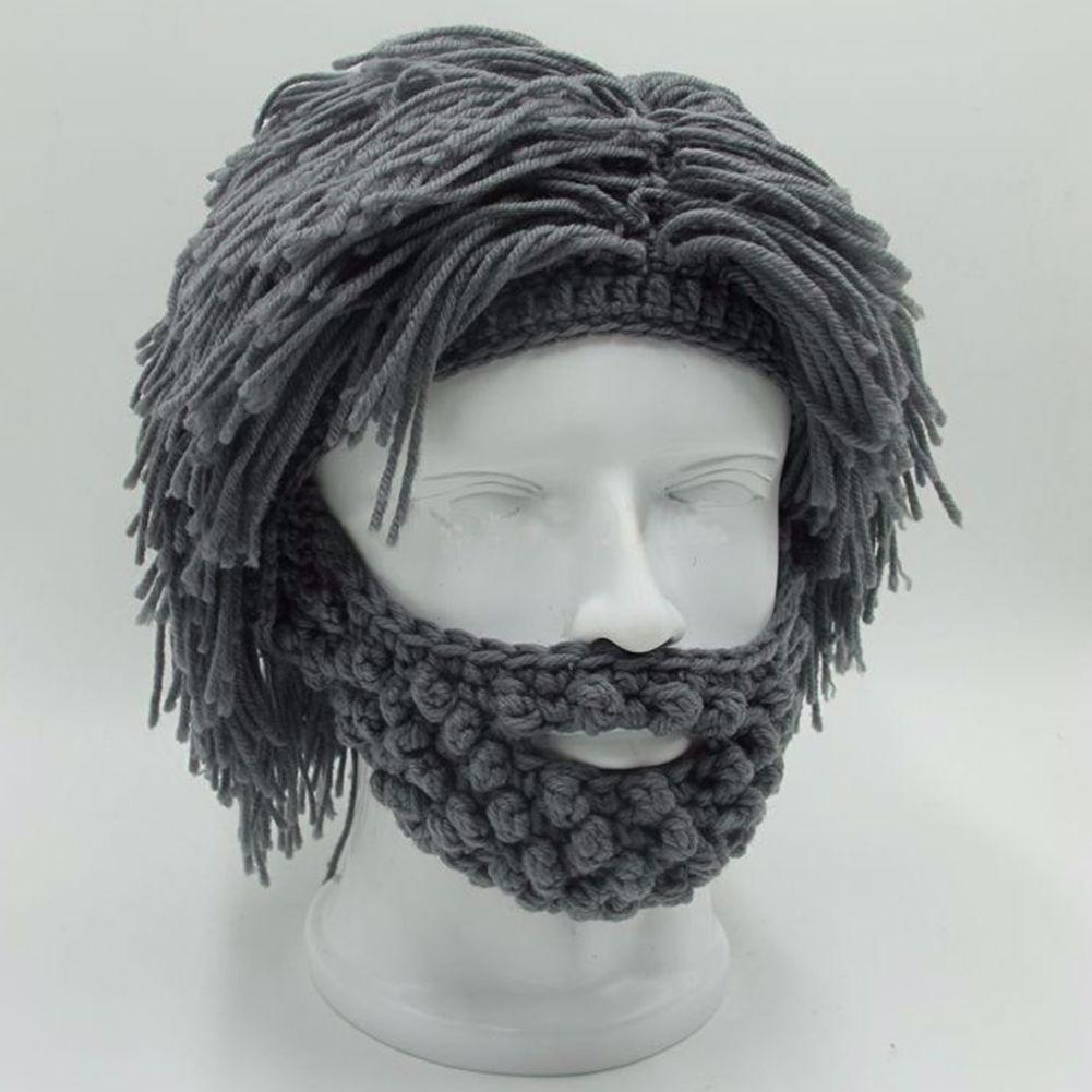 303a1b7f7e311 NaroFace Handmade Knitted Men Winter Crochet Mustache Hat Beard Beanies  Face Tassel Bicycle Mask Ski Warm Cap Funny Hat Gift New C18110601 Winter  Hats ...