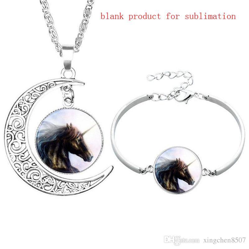 nuevas pulseras de estilo en blanco para la sublimación pulsera de la luna para las mujeres de bricolaje de impresión por transferencia de calor de la joyería consumibles / vende al por mayor