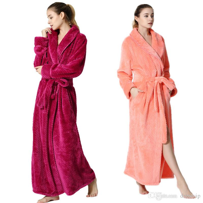 Hot Selling Women Mens Robe Long Night Robe Bathrobe Neutral Fashion ...