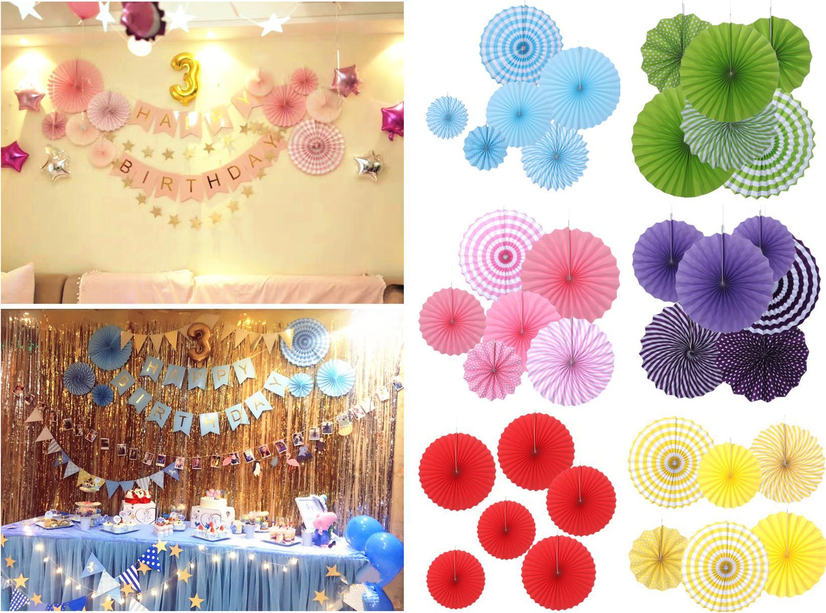 Tissue Paper Cut Out Paper Fans Pinwheels Hanging Flower Paper