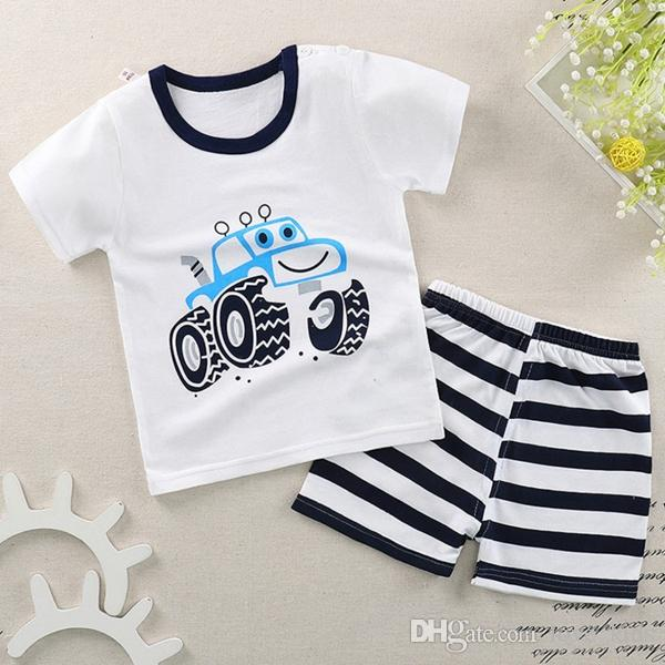 Baby Cartoon top +shorts suits girls boys outfits Baby Clothes Children clothing kids wear 18 styles