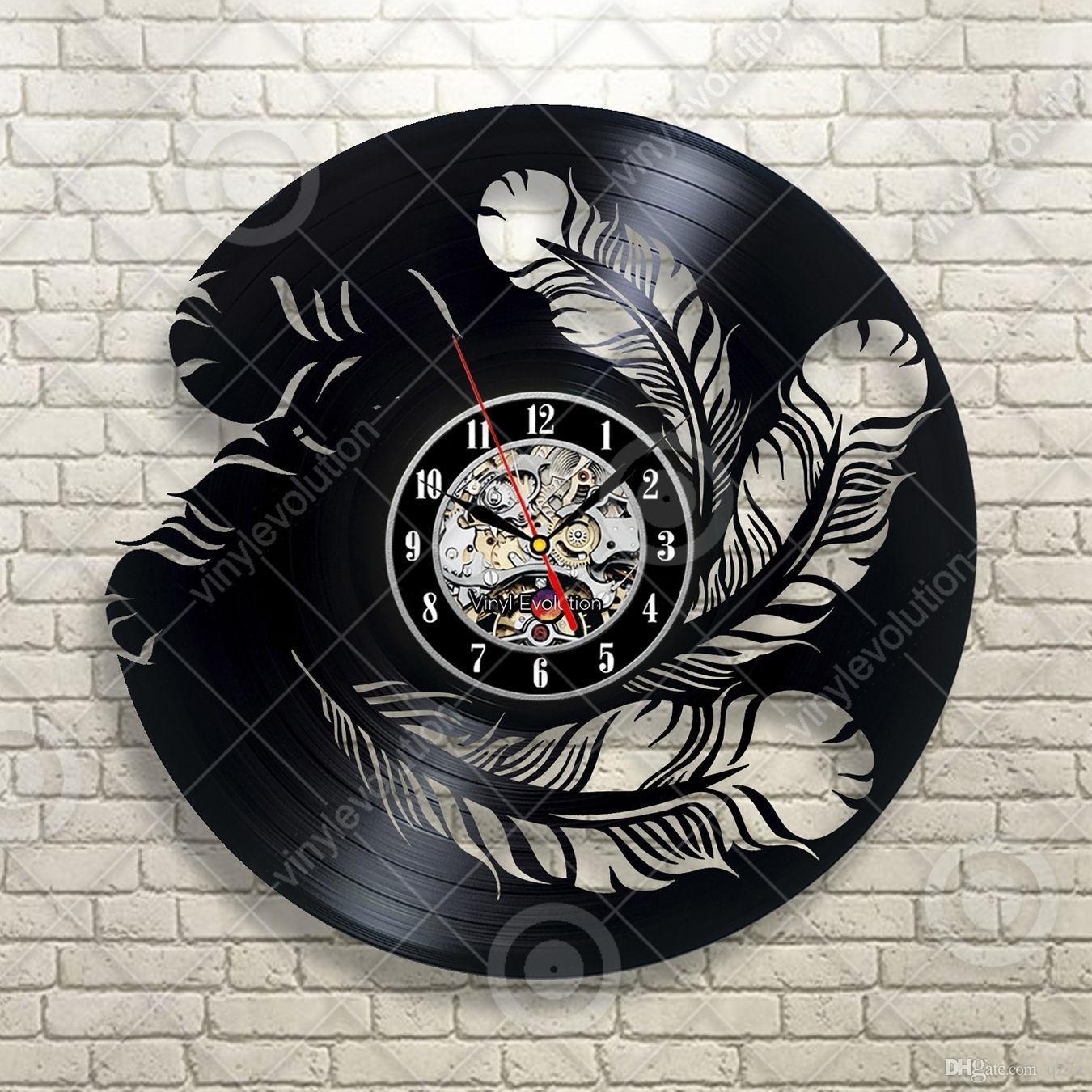 Beautiful Feather Creative Wall Art Custom Vinyl Record