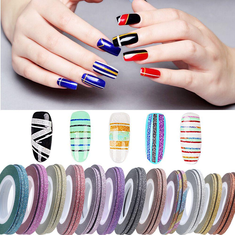 Nail Art Striping Tape Line Decoration Easy Go Scrub Nail Striping