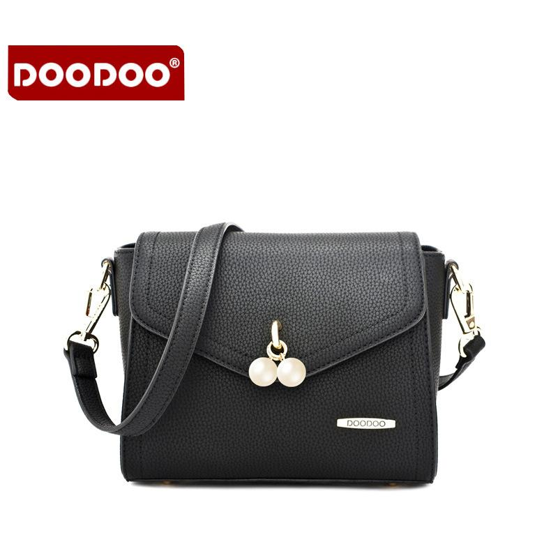 fb2ae1d94870 DOODOO Brand Fashion Women Bag Female Shoulder Crossbody Bags Ladies  Artificial Leather Pearl New Small 4 Colors Messenger Bags