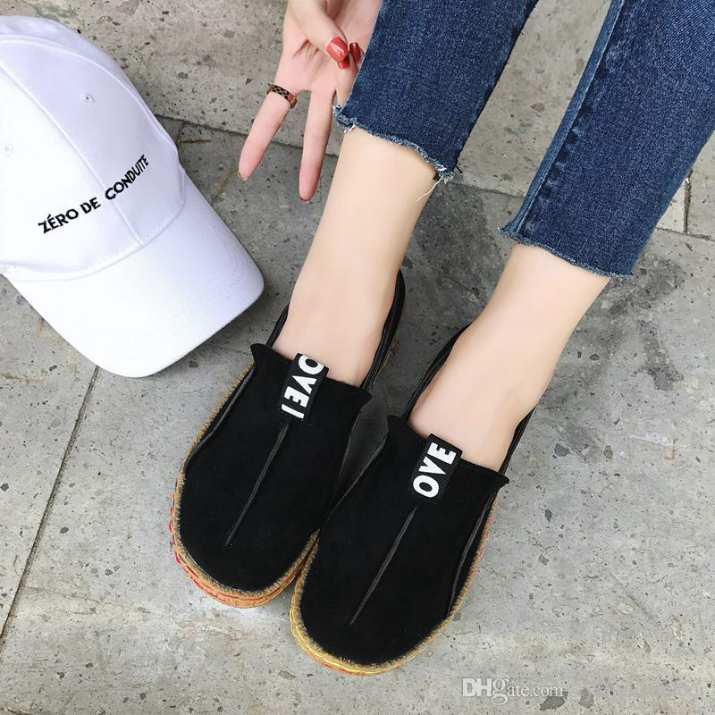Hot women flats shoes platform sneakers shoes leather suede casual shoes slip on flats heels creepers moccasins