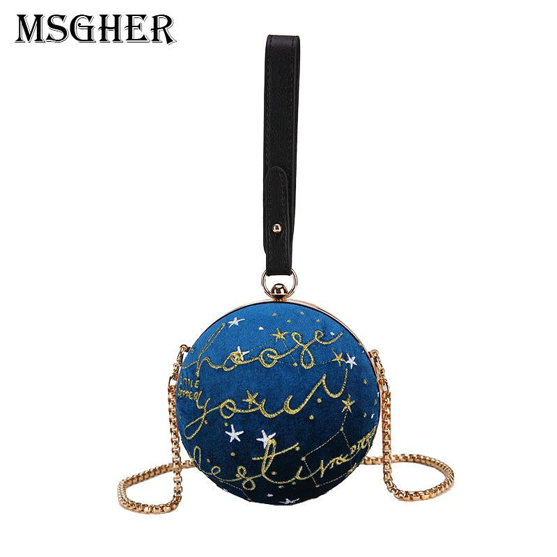 MSGHER Small Round Lady Shoulder Messenger Bags Embroidered Handbags  Classic Crossbody Bag For Women High Quality Bag Females Ivanka Trump  Handbags Western ...