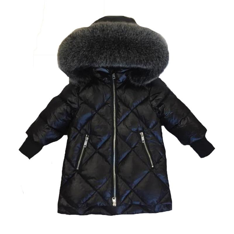 Children Outerwear Winter Jackets Coats Girls Warm Thick Down Jacket Kids  Hoodie Big Fur Clothes Russia Winter Snow Wear Parka Y18102607 Packable  Down ... dd899a235