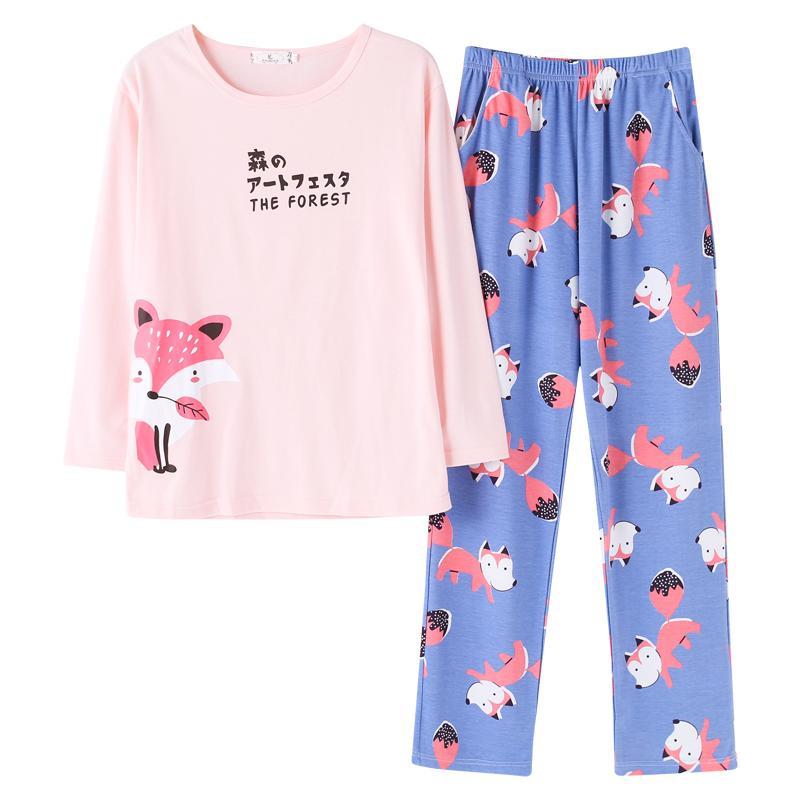 2019 2018 Autumn Pijamas Women Japanese Kawaii Cartoon Pajamas Shorts Set  Female Cute Sexy Night Suit Cotton Sleepwear Big Yard M XXL From Windomfac fd98f52ce