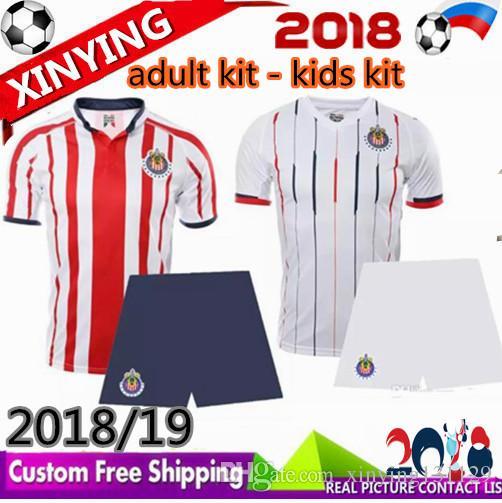 9f539c78e0 Compre Miúdos Adultos 18/19 Chivas De Guadalajara Kit De Camisa De Futebol  2018/2019 Homens Conjuntos Liga Mx J.PEREIRA O.PINEDA Uniforme De Futebol  Camisa ...