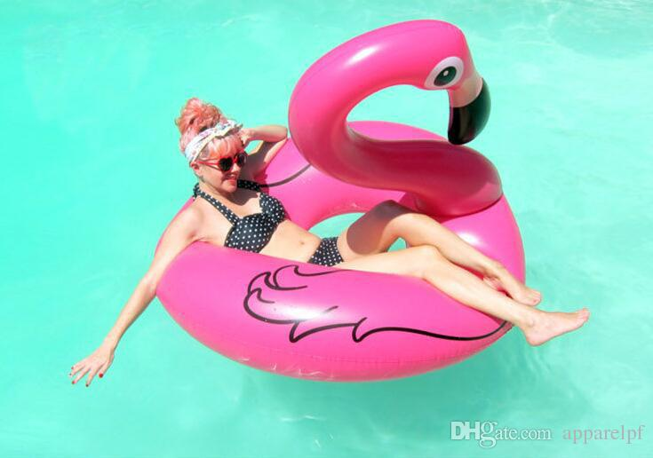 Inflatable toy Flamingo Pool Float Toys 70cm Kids Swimming Ring Circle Party Decoration Beach Water Party toy Inflatable Bouncers