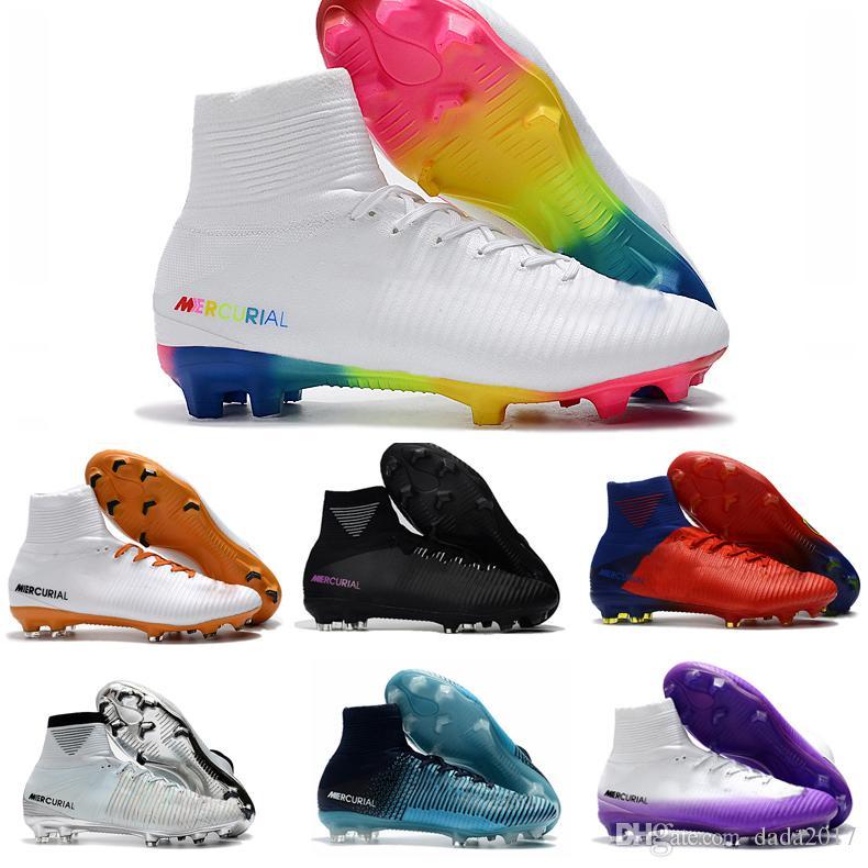 48f105c2f32e9 Compre Zapatos De Fútbol Cristiano Ronaldo Cr7 De 2018 Rainbow Botas De  Fútbol Originales Mercurial Superfly Champions Botas De Fútbol Magista  Zapatos De ...