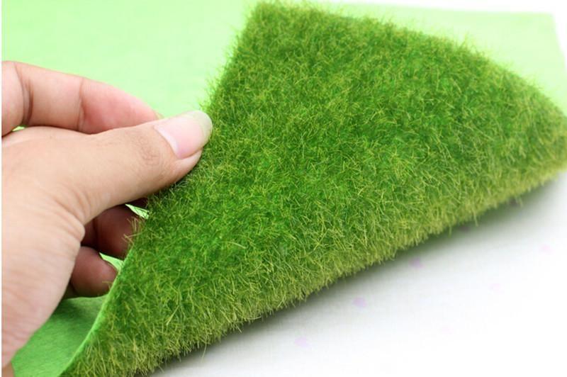 Artificial Grass Lawn 15*15cm fairy garden miniature gnome moss terrarium decor resin crafts bonsai home decor for DIY Zakka