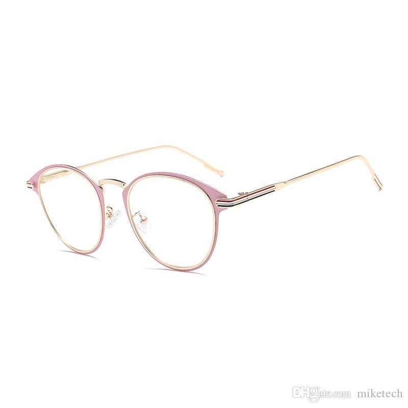 8930d1e935cedd Acquista Fashion Reading Occhiali Da Vista Optical Computer Glasses Gold  Frames Occhiali Da Donna Uomo New Clear Glasses Round Oculos De 1921DF A   7.11 Dal ...