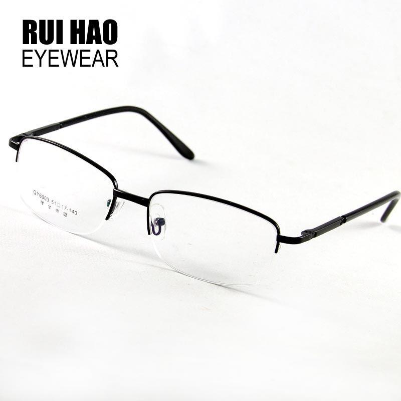 6885bcda9c 2019 Fashion Brand Men s Glasses Half Rimless Spectacles Frame Eyeglasses  Optical Goggles Myopia Reading Eyewear Frame Oculos De Grau From Hoganr
