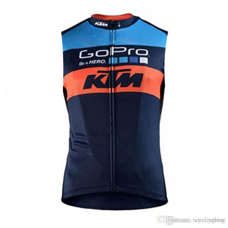 2018 Summer Men KTM Cycling Jersey Quick-Dry MTB Sleeveless Vest Bicycle  Tops Ropa Ciclismo Road Bike Clothing Riding Shirt D2301 KTM Cycling  Jerseys Bike ... dfdaa9ec7