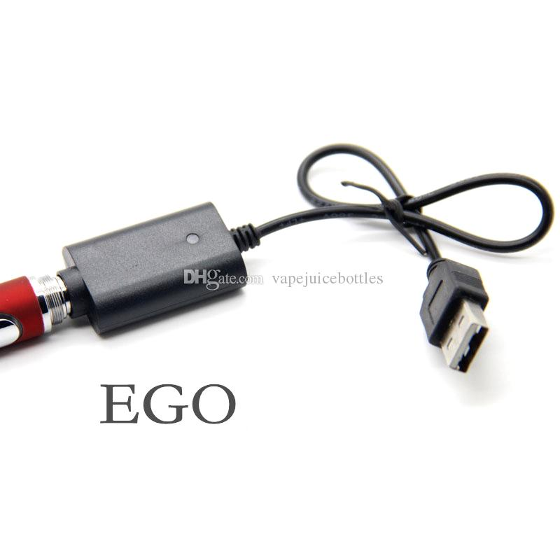 High Quality USB Chargers for EGO ECIG vaporizer battery Cable E cig USB charger for ego ego-T electronic cigarette Healthy E-cig Adapter