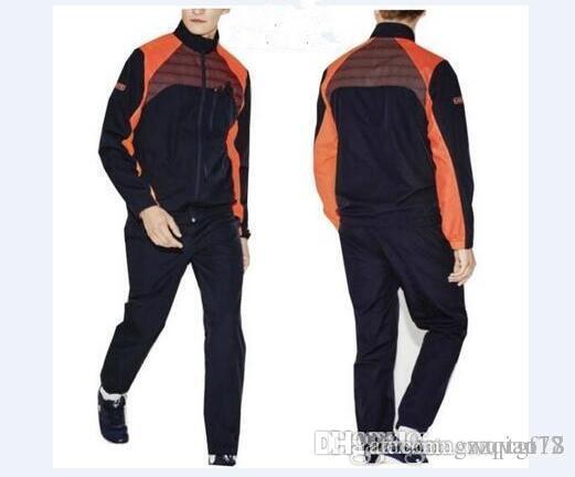 0daa7854d02 Acheter Lacoste Hommes Sport Suit Léger Respirant Hommes Survêtement  Ensemble Jogging Track CostumesJacket + Pantalons Sportswear Casual Sweat  Hoodi De ...