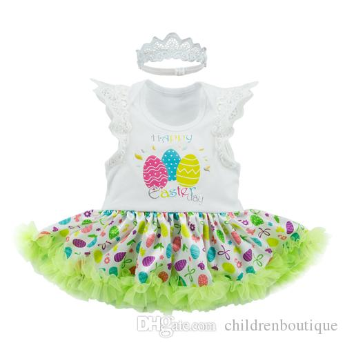 2018 Easter Day Newborn Dresses Baby Girls Light Green Exquisite