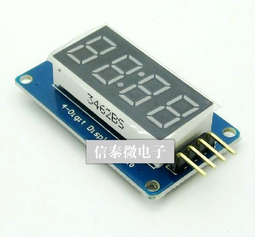 intelligent electronic 4 bits digital tube led display module with clock  display tm1637 for arduino raspberry pi