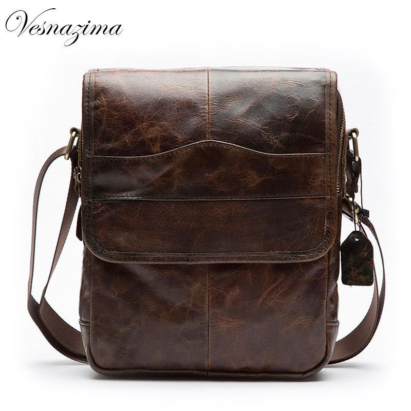 d9b2ce2d6ee5 VZ Small Men Bags Genuine Leather Messenger Bags For Men Vintage Shoulder  Bag Vintage Crossbody Tablet Bag Brown 416YL Cross Body Purses Cheap  Designer ...