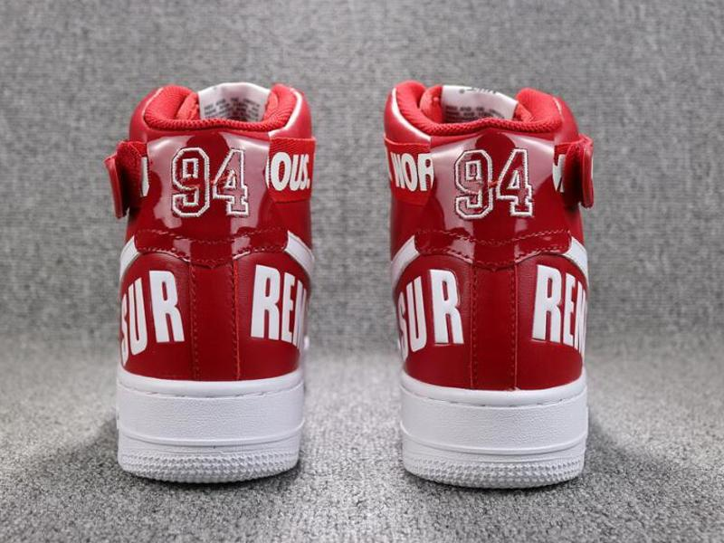hot selling 94 SUP AF1 men's women's high cut Skateboarding sports shoes Couple red black red air skate sneaker size EUR36-45