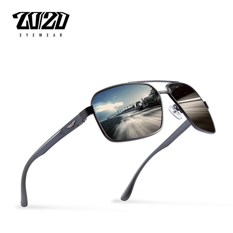 0574adedb Compre 20/20 Marca De Design Novo Alumínio Polarizada Óculos De Sol Dos  Homens De Viagem De Condução Óculos De Sol Clássico Masculino Eyewear Gafas  Pz7014 ...