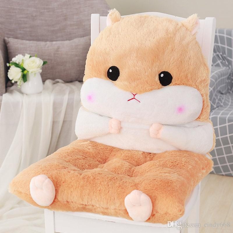 Animal Design Back Pillow Thicken Office Chair Cushion Cute Plush Toy Seat Pillow Chair Pad For Home Decor Buttock Mat Almofada Replacement Outdoor Sofa ... & Animal Design Back Pillow Thicken Office Chair Cushion Cute Plush ...