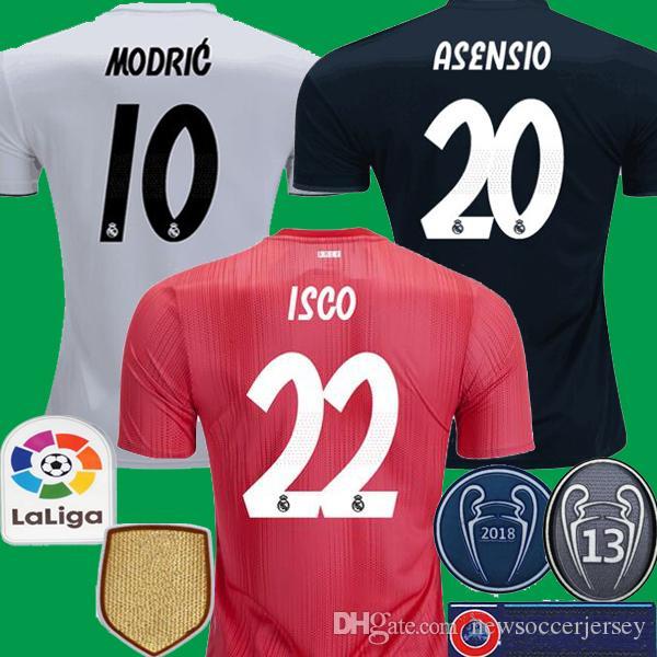 2018 2019 Real Madrid Ronaldo KROOS Benzema MODRIC Thailand Soccer Jerseys  18 19 Camisetas Real Madrid ASENSIO ISCO MARCELO Camisetas De Fútbol Por ... 3cdae91d02bd3