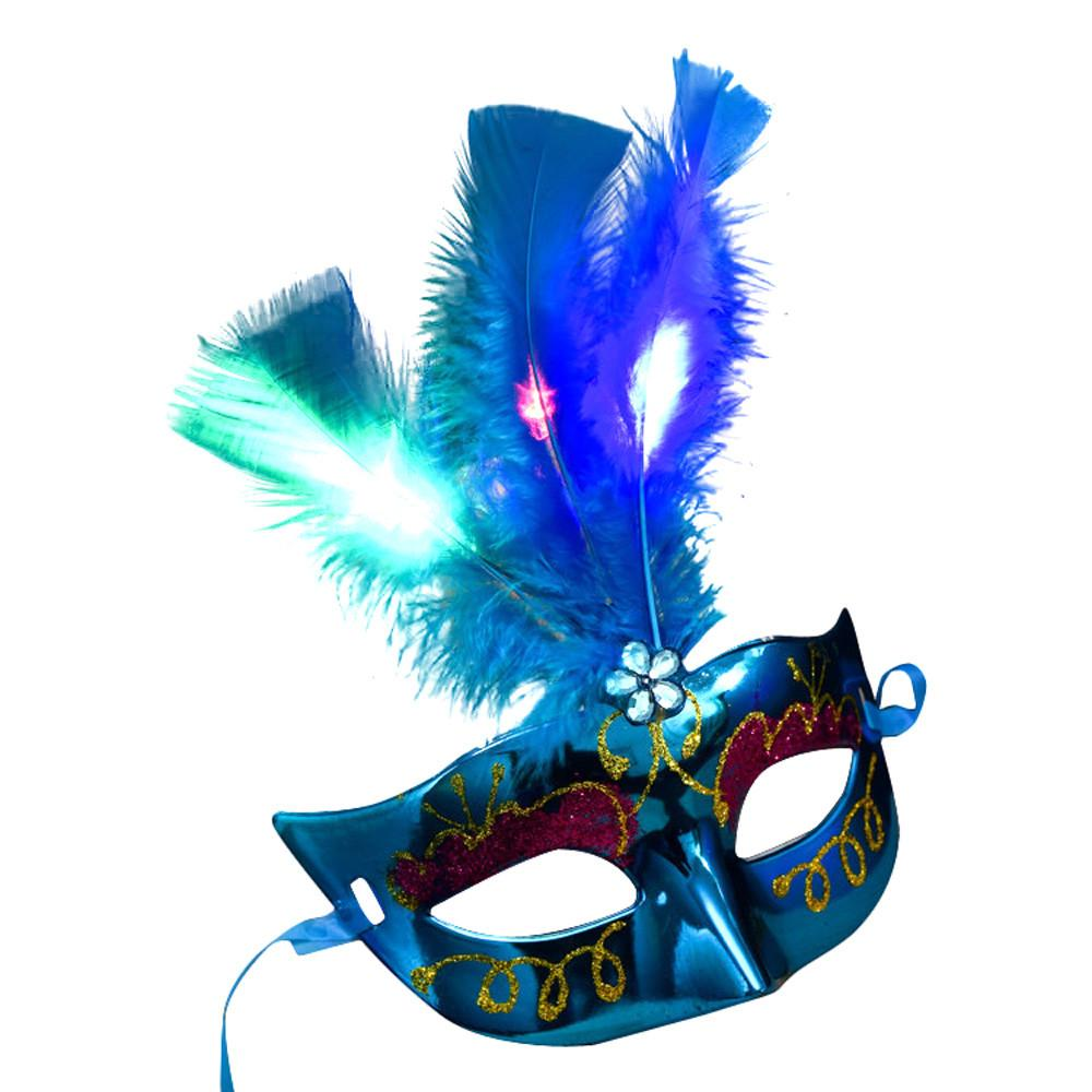 2018 Hot Women Venetian Led Mask Masquerade Fancy Dress Party ...
