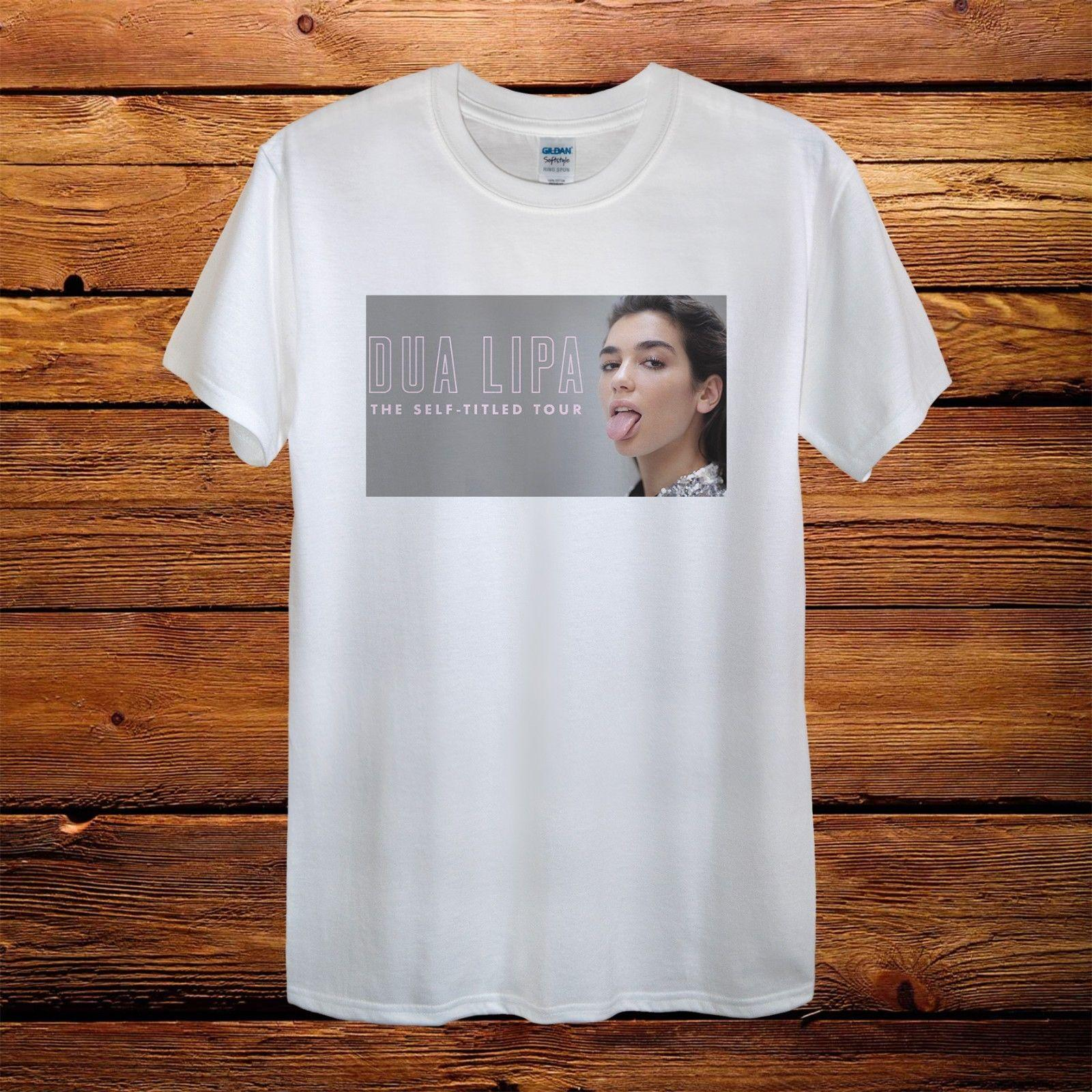 cc9bff0c Dua Lipa The Self Titled Tour Singer Gift Design T Shirt Men Funny Unisex  Casual Gift Funny Clever T Shirts Best Sites For T Shirts From Lukehappy13,  ...