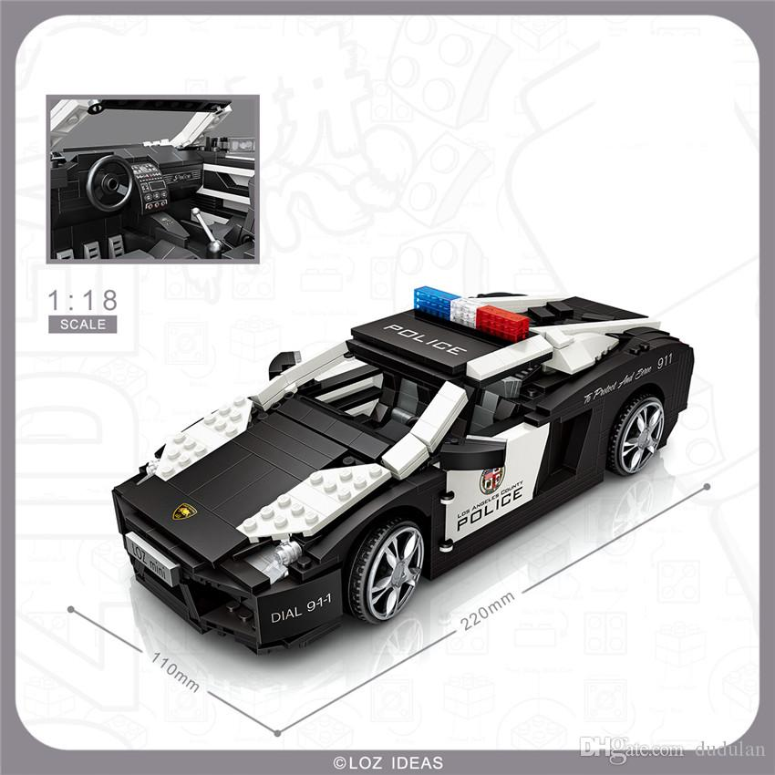 Loz Mini Car 1 18 Boutique Decoration Police Car Racing Car Models