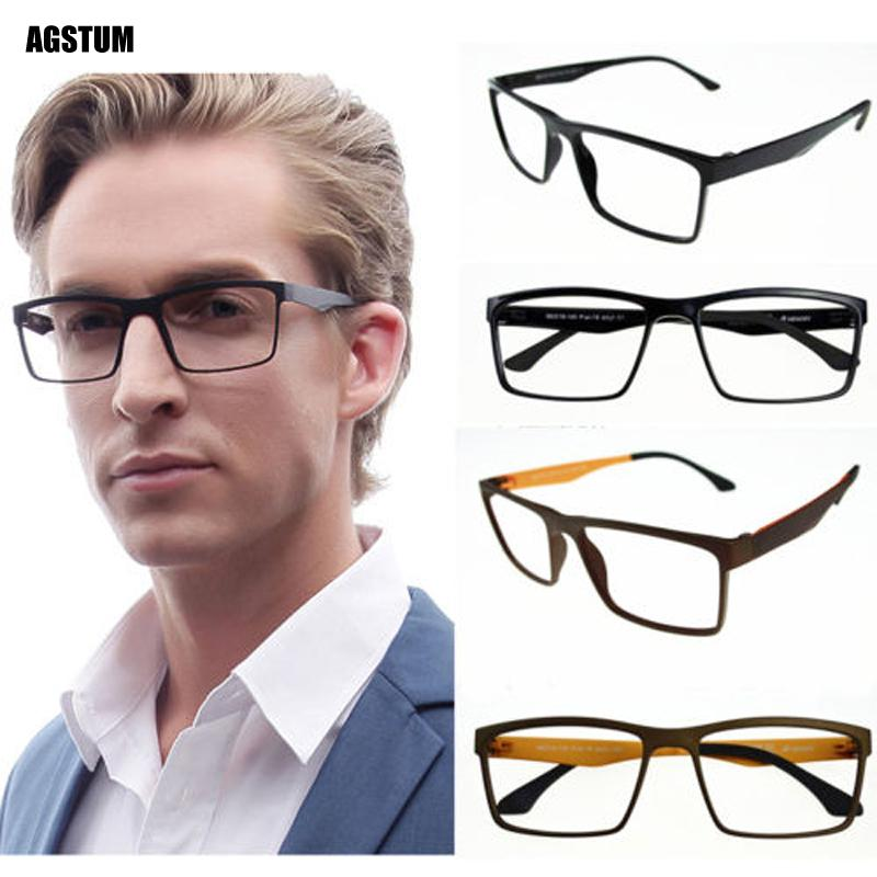 fcd201fd4132 2019 Agstum Myopia Glasses Optical Flex Eyeglasses Frames Large Spectacles  Rx Pac 18 From Lbdwatches